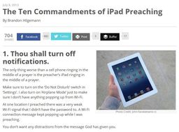 Large 10 commandments ipad preaching