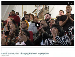 Large racial diversity harlem congregation