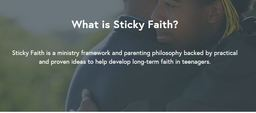 Large what is sticky faith