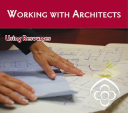 Large working with architects ad