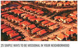 Large 25 simple ways missional neighborhood