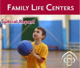Large family life centers banner ad