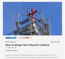 Large how to shape your churchs culture