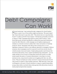 Large debt campaigns can work