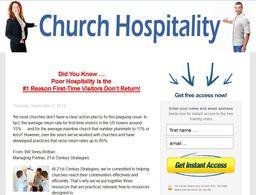 Large church hospitality