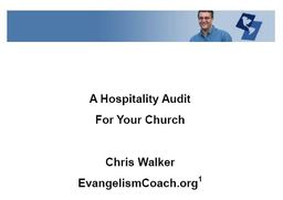 Large free hospitality audit