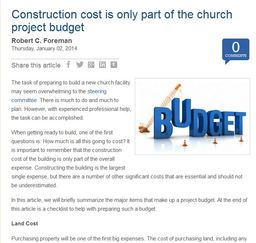 Large construction cost