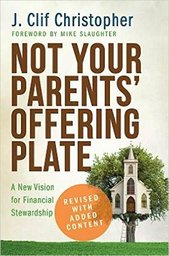 Large not your parents offering plate