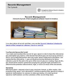 Large records retention schedule