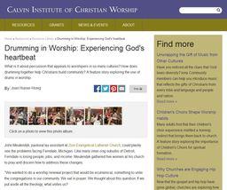 Large drumming in worship
