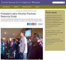 Large protestant latino worship practices resource guide