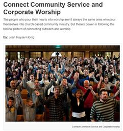 Large connect community service worship