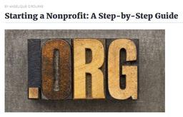 Large starting a nonprofit