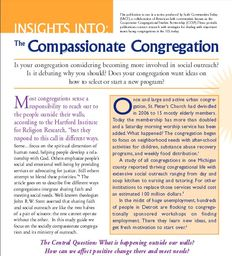 Large insights into compassionate congregation