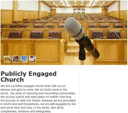 Large publicly engaged church