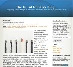 Large the rural ministry blog