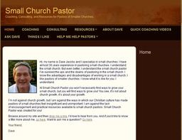 Large small church pastor