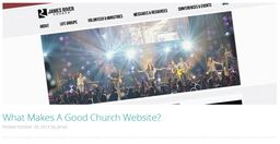 Large what makes a good church website